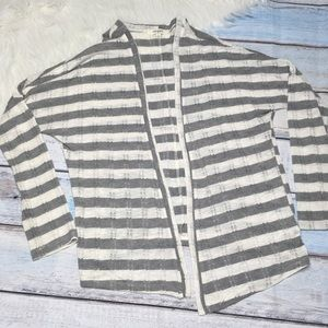 Umgee striped white gray cardigan size S